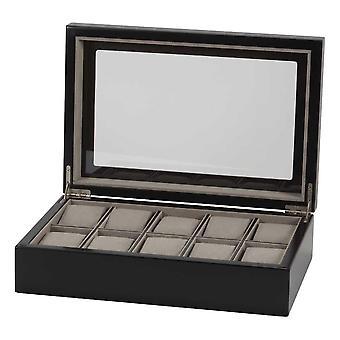 Uhrenbox für 10 Uhren, Schwarz - Nathan