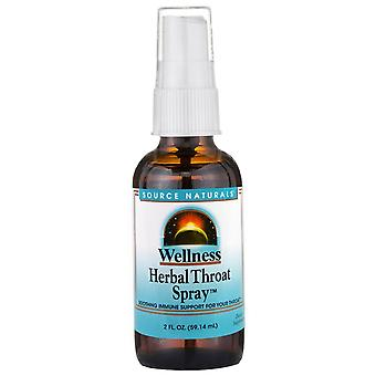 Source Naturals, Bienestar, Spray para garganta de hierbas, 2 fl oz (59.14 ml)