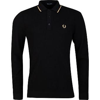Fred Perry Authentics Tipped Knitted Long Sleeved Polo Shirt