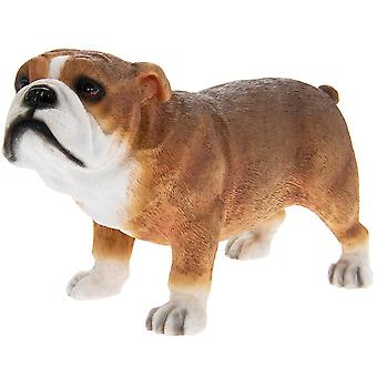 Brown Bull Dog Figurine Ornament Present Gift