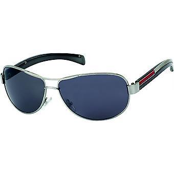 Sluneční brýle Pánská obdélníková pánská fialová/stříbrná šedá (20-225)