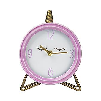 Round Table Top Clock with Semi-Glossy Finish