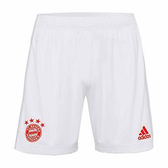 2020-2021 Bayern München Adidas Auswärtsshorts (Weiß)