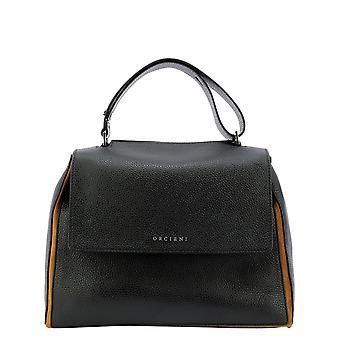 Orciani Bt2006warmcacao Women's Black Leather Handtas