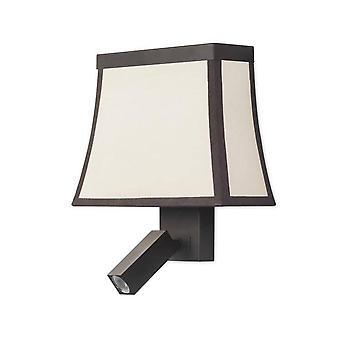 Leds-C4 - Brun clair mur intérieur avec lampe de lecture
