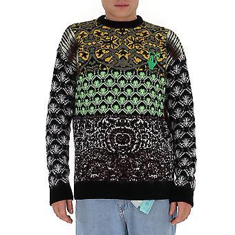 Suéter de lã multicolorido Omhe059f20kni0010955 Men's Multicolor Wool Sweater