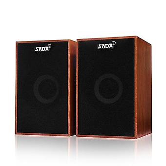 Computer-speakers Usb-wired Combination Soundbox Super Bass Mini-wooden