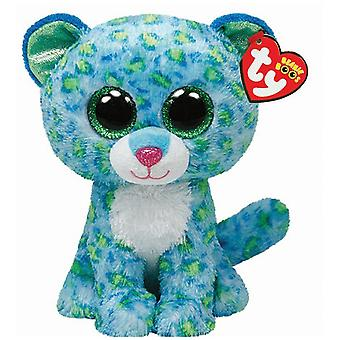 "TY Beanie Boo Buddy 9"" peluche - Leona Leopard Turquoise"