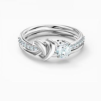 טבעת הלב הלבנה של סברובסקי לכל החיים