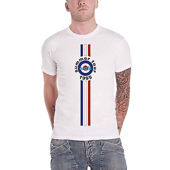 Oasis T Shirt Stripes 95 Band Logo new Official Mens White