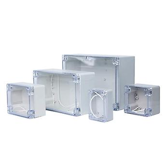 Waterproof Plastic Junction Box Transparent Cover Enclosure Electronic
