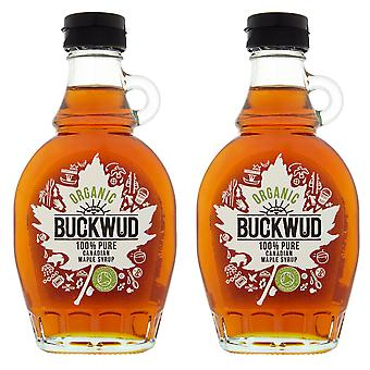 2 x 250g Buckwud 100% Pure Organic Maple Syrup Breakfast Pancakes Baking Vegan