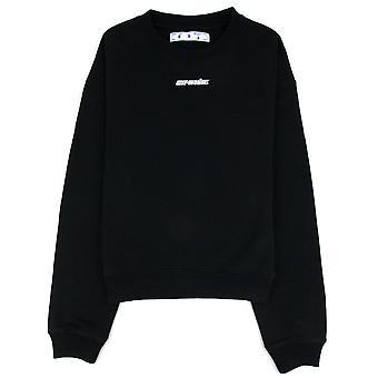 Off-White Off White Marker Over Crew Neck Sweatshirt Black/red