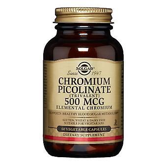 Solgar Chromium Picolinate, 500 mcg, 60 V Caps
