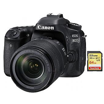 CANON EOS 80D KIT EF-S 18-135mm F3.5-5.6 IS USM + 64GB SD-Karte