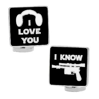 Star Wars 'quot;I Love You, I Know'quot; Boutons de manchette