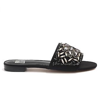 Bibi Lou Negru Papuci cu pietre prețioase