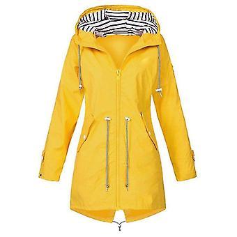 מעילי מעבר מעילי גשם לנשים - שקיעה ארוך סתיו / חורף מעיל גשם