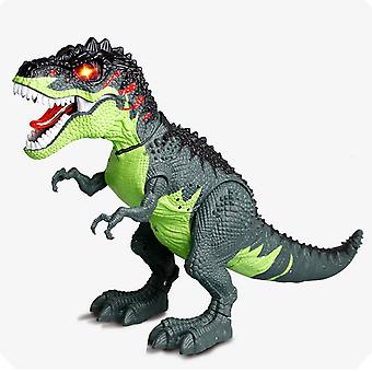 Electric Dinosaur Toy, Walking Tyrannosaurus Spray Laying Eggs Light Sound With