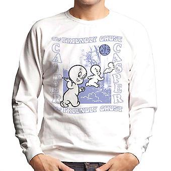 Casper The Friendly Ghost Forest Moon Men's Sweatshirt