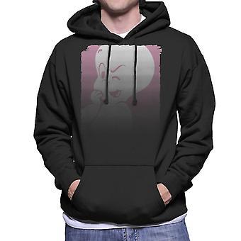 Casper The Friendly Ghost Winking Fade Men's Hooded Sweatshirt