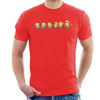 Despicable Me Minions Celebration Line Men''s T-Shirt