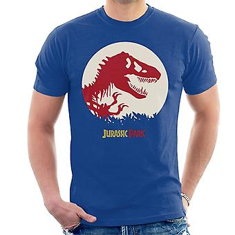 Jurassic Park T Rex Red Skeleton Icon Men's T-Shirt