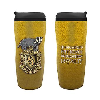 Harry Potter Travel Mug Hufflepuff Crest nouveau jaune officiel 355ml plastique