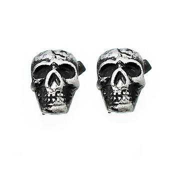 Earrings magnetic with vintage skull design top 6mm  sold as a pair