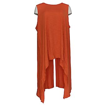 DG2 por Diane Gilman Women's Plus Top Orange Tunic Hi-Lo Hem 727-409