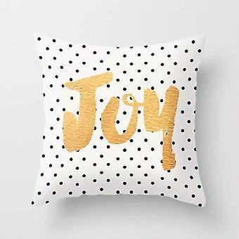 Radość - groszki i poduszka złoty