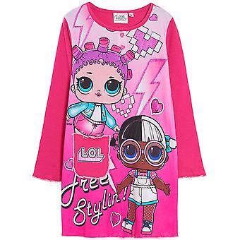 Flickor HS7535. I06 LOL Överraskning Långärmad Nattlinne / Pyjama Fuchsia