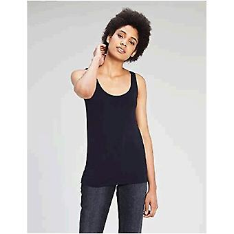 Marque - Daily Ritual Women's Jersey Tank Top, Navy/Navy, XX-Large