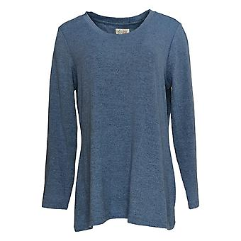 Denim & Co. Kobiety&s Top Heavenly Jersey Trapeze Hem Niebieski A372297