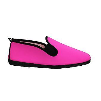 Estilo Flossy Novelda Mulheres Espadrille Escorregar Em Plimsolls Sapatos 55 259 Rosa Neon