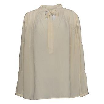 Peace Love World Women's Plus Top Woven Blouse Beige A367738