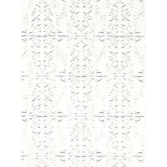 Dolls House Reliëf Plafond Papier Miniatuur Print Wallpaper 1:12 Schaal