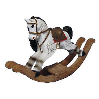 Nuket Talo Valkoinen Keinu hevonen Vanhanaikainen lastenhuone Lelu Kauppa Lisävaruste