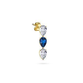 Boucles d'oreilles Kelly Diamonds, 18K Gold & Precious Stones - Ruby | Saphir - France | Émeraude