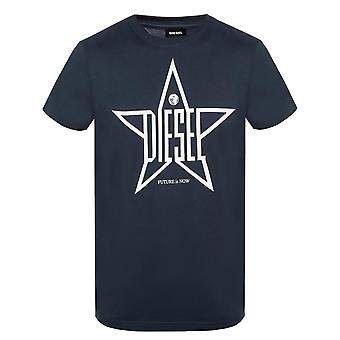 Diesel T-Diego-YH Star Logo Navy T-Shirt