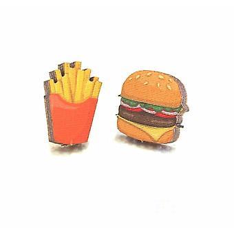 Burger & Fries Stud fülbevaló