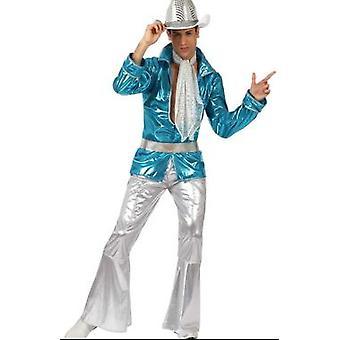 Men costumes Men Disco costume blue M/L T-2