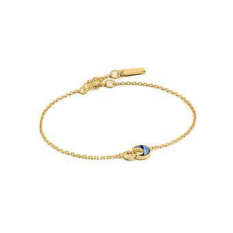 Ania Haie Shiny Gold Tidal Abalone Crescent Link Bracelet B027-03G