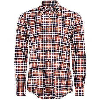 Stenstroms Slimline Flannel Check Shirt