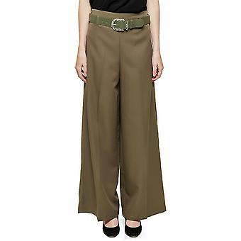 High Rise Culottes Wide Flared Trousers - Black
