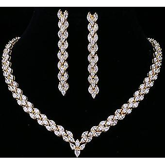 Exquisite Cubic Zirconia Wedding Party Jewelry Set