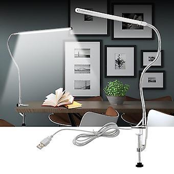 Lampe d'étude de travail dirigée par bras long, lampes de bureau de montage de pince (lampe de bureau)