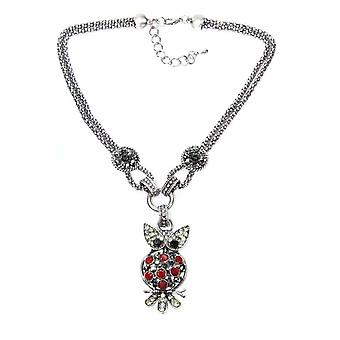 Dazzling Perched Owl Necklace