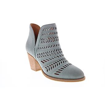 Frye & Co. Allister Feather Bootie  Womens Gray Suede Ankle & Booties Boots