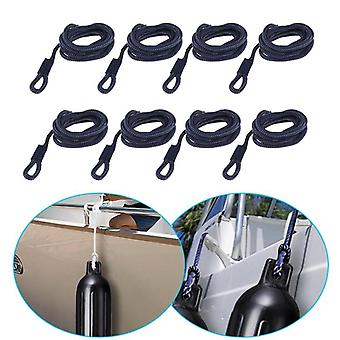 """8 Pcs Boat Fender Line 0.24"""" Thickness 5 Ft Double Braided Fender Line Marine"""